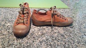 Candice Cooper Chaussures à lacets orange cuir