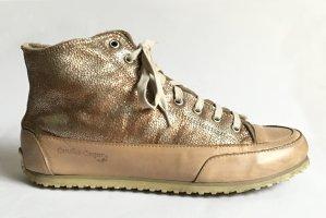Candice Cooper Basket montante beige cuir