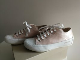 Candice Cooper Sneaker stringata rosa pallido-bianco Pelle