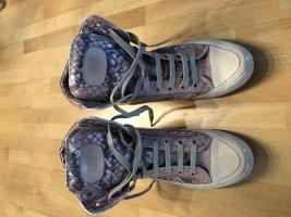 Candice Cooper Basket compensée multicolore cuir