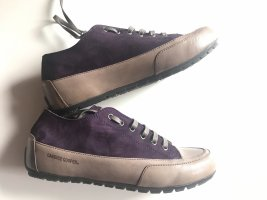 Candice Cooper Lace-Up Sneaker blackberry-red-beige leather