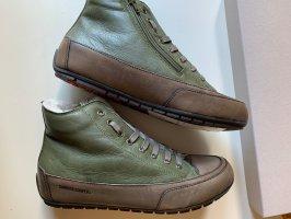 Candice Cooper Bottine d'hiver gris vert-kaki cuir