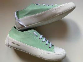 Candice Cooper Basket à lacet blanc-vert menthe cuir