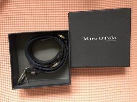 Marc O'Polo Cinturón de lona azul oscuro-color plata