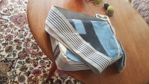 Canvasco Torba z klapą jasnoszary-jasnoniebieski Tkanina z mieszanych włókien