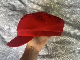 Zara Flat Cap dark red
