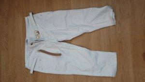 Rose Player Pantalone Capri bianco-oro