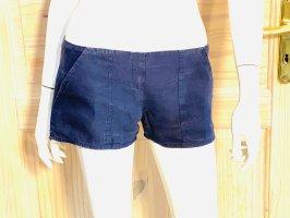 Capri Short moulant bleu foncé lin