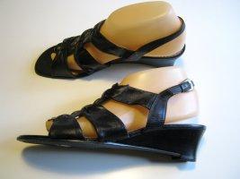CAPRICE Leder Sandalette EUR 38 - UK 5,5 Schwarz Wedge
