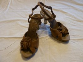 Caprice High Heel Sandal grey brown leather