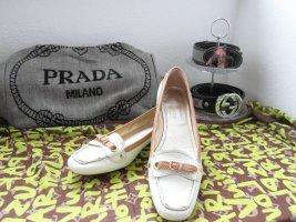 Car Shoe Ballerina di pelle verniciata crema-sabbia Pelle