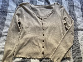 Cardigan / Bluse beige
