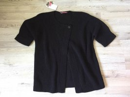 Comptoir des Cotonniers Short Sleeve Knitted Jacket black cotton