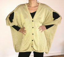 Cardigan / Partyjacke in gold von ONEHUNDRED M Designerfundstück