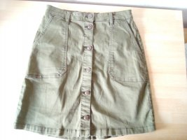 Only Cargo Skirt green grey-olive green cotton