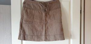 Closed Falda de lino marrón grisáceo