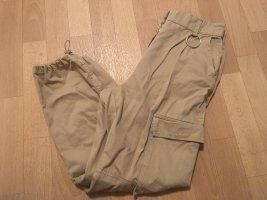 Bershka Cargo Pants beige-oatmeal
