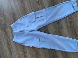 Bershka Cargo Pants light blue-blue