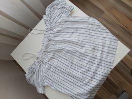H&M Bluzka typu carmen biały-niebieski