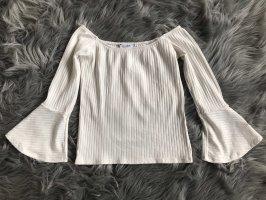 Pull & Bear Koszula typu carmen biały