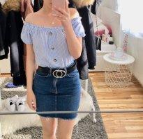 H&M Camisa tipo Carmen blanco-azul