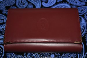 Cartier Portefeuille bordeau cuir