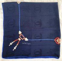 Cartier Foulard en soie bleu foncé soie