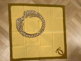 Cartier Pañuelo de seda color oro-color bronce