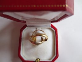 Cartier Gold Ring light grey-gold-colored real gold