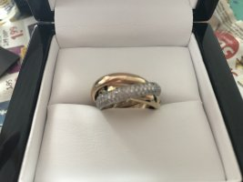 Cartier Bague en or brun sable-gris clair or