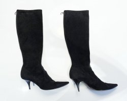 Casadei Heel Boots black leather