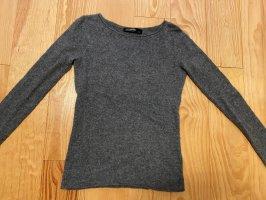 Hallhuber Pullover in cashmere grigio scuro-antracite