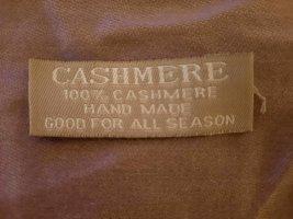 Handmade Cashmere Scarf dusky pink cashmere