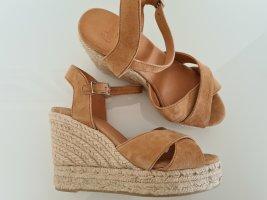 Castañer Espadrille sandalen licht beige-camel Leer