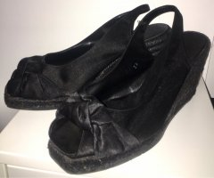 Castañer Espadrille Sandals black leather