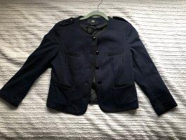H&M Blazer in jeans blu scuro-nero