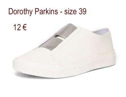 Dorothy Perkins Zapatillas con tacón blanco