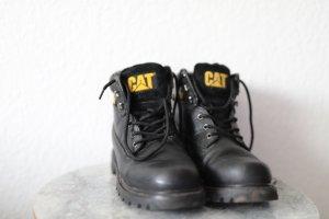 CAT Sneeuwlaarzen zwart Leer