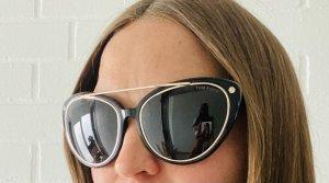 Tom Ford Oval Sunglasses black-silver-colored