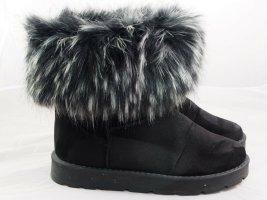 CATWALK Schwarz Stiefel Damen Women Black Boots aus France, Gr. 39 Neu