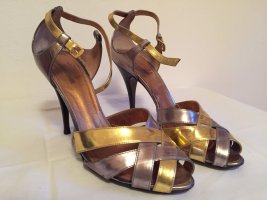 Cavalli Shoes light grey-gold-colored leather