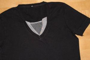 Cecil Shirt Gr. 42 schwarz Lagenlook