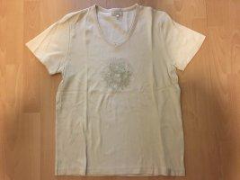 Cecil T-Shirt Farbe Creme Größe XL V-Ausschnitt