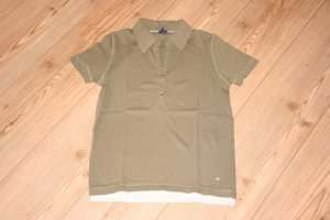 CECIL T-Shirt mit Knopfleiste / Khaki / Grün / Gr. M