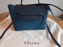 Celine Handbag blue-dark blue leather