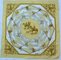 Celine Silk Scarf cream-natural white silk