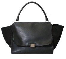 CELINE Large Trapeze Tasche /  Bag Black / Gold Luxus Pur