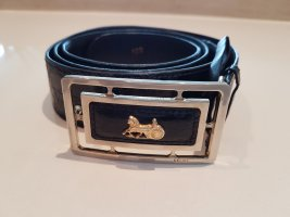 Celine Paris Cinturón de cuero negro Cuero