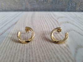 Celine Ear stud gold-colored metal