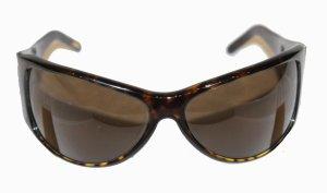Celine Gafas de sol ovaladas marrón oscuro Material sintético